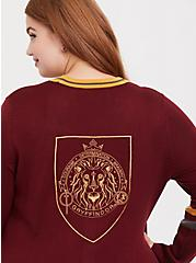 Plus Size Harry Potter Gryffindor Dark Red Varsity Boyfriend Cardigan, , alternate