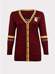 Harry Potter Gryffindor Dark Red Varsity Boyfriend Cardigan, , hi-res