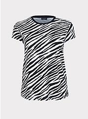 Zebra Relaxed Boyfriend Tee, ZEBRA - BLACK, hi-res