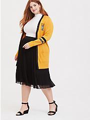 Harry Potter Hufflepuff Yellow Varsity Boyfriend Cardigan, , alternate