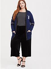 Harry Potter Ravenclaw Blue Varsity Boyfriend Cardigan, ESTATE BLUE, alternate