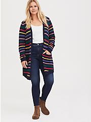 Her Universe Doctor Who Rainbow Knit Cardigan, , alternate