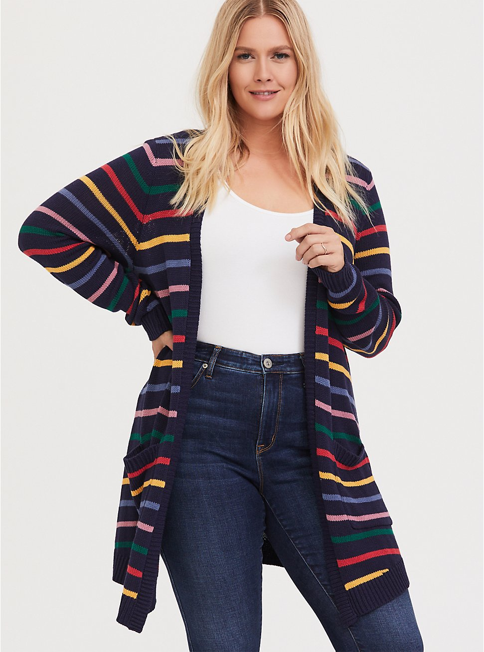 Her Universe Doctor Who Rainbow Knit Cardigan, , hi-res