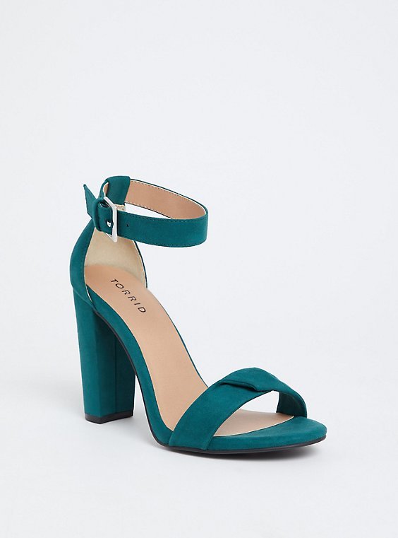 Emerald Green Twisted Strap Tapered Heel (WW), , hi-res
