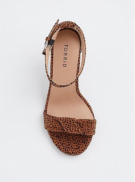 Leopard Twisted Strap Tapered Heel (Wide Width), ANIMAL, alternate