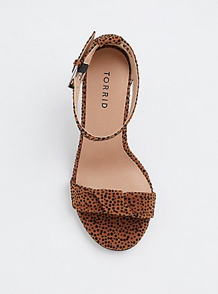 Leopard Twisted Strap Tapered Heel (Wide Width), ANIMAL, alternate