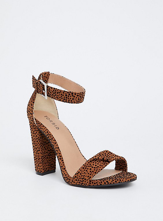 Leopard Twisted Strap Tapered Heel (Wide Width), , hi-res
