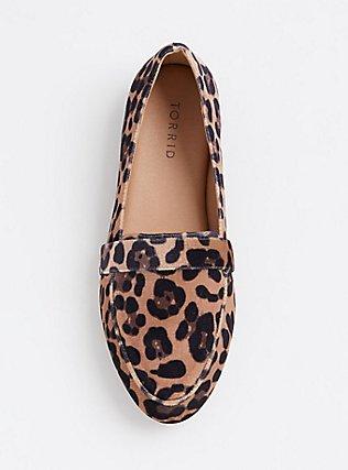 Plus Size Leopard Velvet Loafer (WW), ANIMAL, alternate