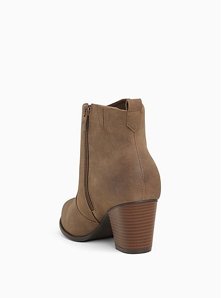 Plus Size Brown Faux Leather Western Bootie (Wide Width), BROWN, alternate