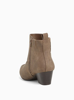Dark Taupe Faux Leather Western Bootie (WW), TAN/BEIGE, alternate