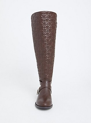 Brown Quilted Over-the-Knee Boot (Wide Width & Wide to Extra Wide Width Calf), BROWN, alternate