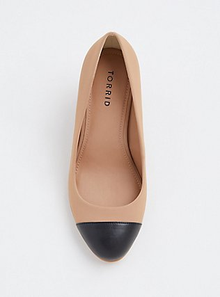 Nude & Black Two-Tone Faux Leather Pump (WW), NUDE, alternate