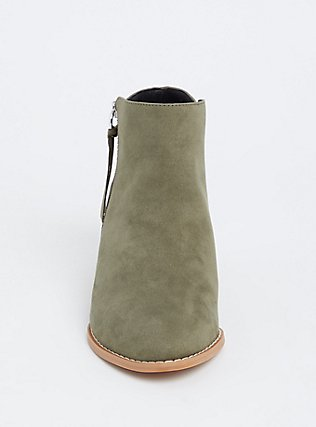 Light Olive Green Faux Suede Wedge Bootie (WW), OLIVE, alternate