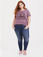 Woodstock Mauve Purple Crew Tee, MAUVE, alternate