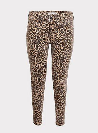 Jegging - Super Stretch Leopard, LEOPARD, flat