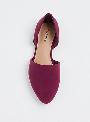 Burgundy Purple D'Orsay Flat (WW), PURPLE, alternate
