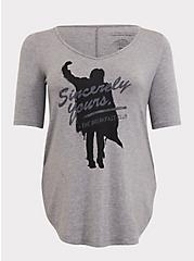 The Breakfast Club Sincerely Yours Grey Tunic Tee, HEATHER GREY, hi-res
