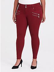 Plus Size Jegging - Super Stretch Dark Red, RED, hi-res