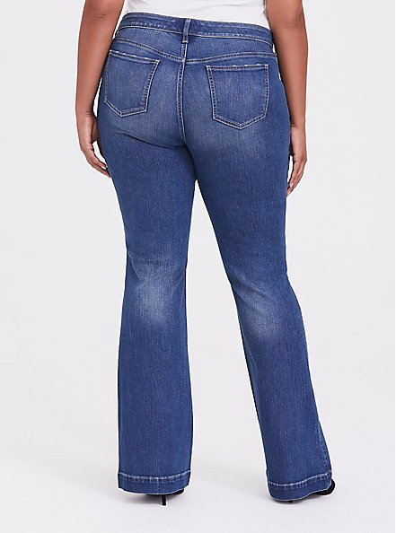 Flare Jean - Vintage Stretch Medium Wash, TWO IN THE BUSH, alternate