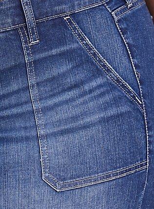 Flare Jean - Vintage Stretch Medium Wash, TWO IN THE BUSH, alternate