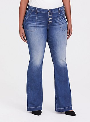 Flare Jean - Vintage Stretch Medium Wash, , hi-res