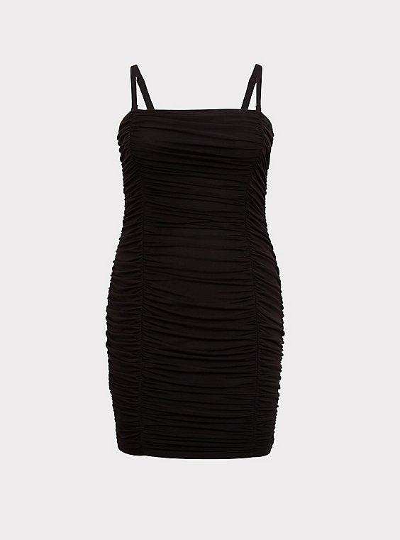 Crunched Bodycon Mini Dress