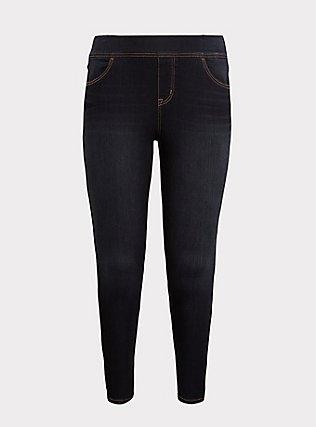 Plus Size Lean Jean - Super Stretch Dark Wash, NEWCASTLE, flat