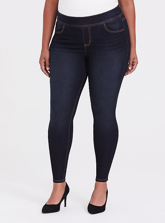 Plus Size Lean Jean - Super Stretch Dark Wash, , hi-res