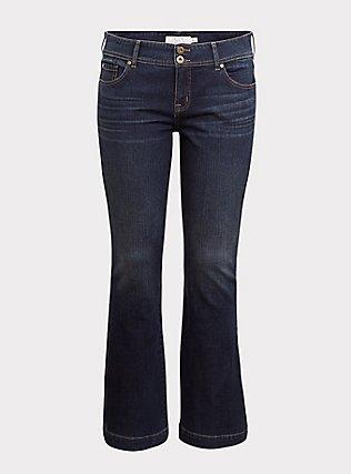 Flare Jean - Vintage Stretch Dark Wash, BLINDSIDE, flat