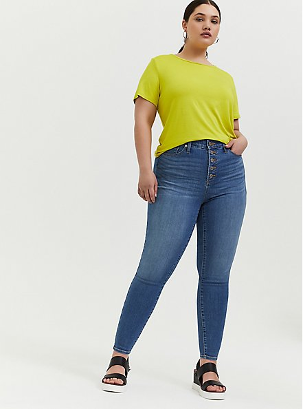 Plus Size Sky High Skinny Jean - Premium Stretch Light Wash with Button Fly, LAKEPORT, alternate