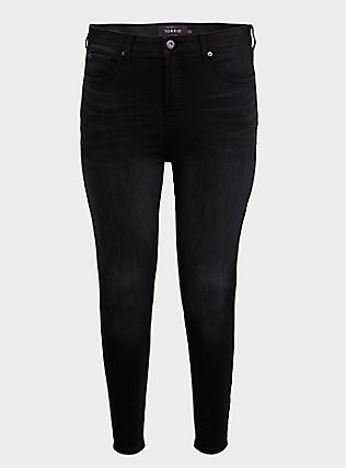 Sky High Skinny Jean - Premium Stretch Washed Black, COOL CAT, flat