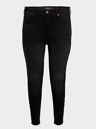 Sky High Skinny Jean - Premium Stretch Washed Black, COOL CAT, ls