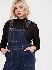 Flared Overall - Vintage Stretch Dark Wash, MEDIUM WASH, alternate