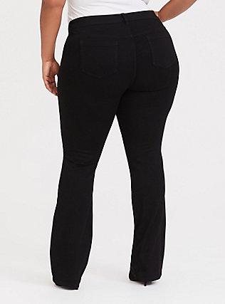 Plus Size Slim Boot Jean - Vintage Stretch Black, BLACK, alternate