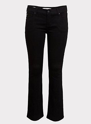 Plus Size Slim Boot Jean - Vintage Stretch Black, BLACK, flat