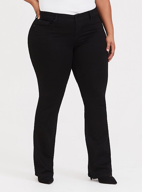 Plus Size Slim Boot Jean - Vintage Stretch Black, , hi-res