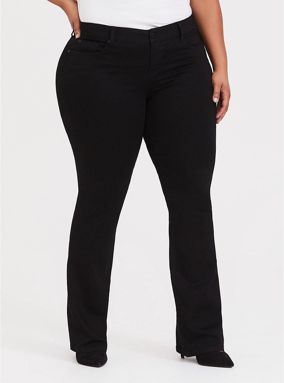 Slim Boot Jean - Vintage Stretch Black, BLACK, hi-res