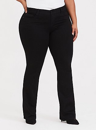 Slim Boot Jean - Vintage Stretch Black, BLACK, hi-res