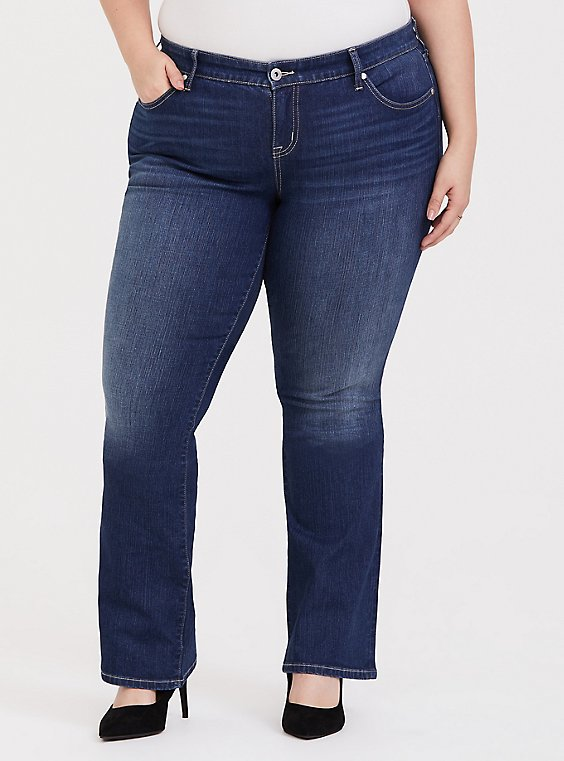 Plus Size Slim Boot Jean - Vintage Stretch Medium Wash, , hi-res