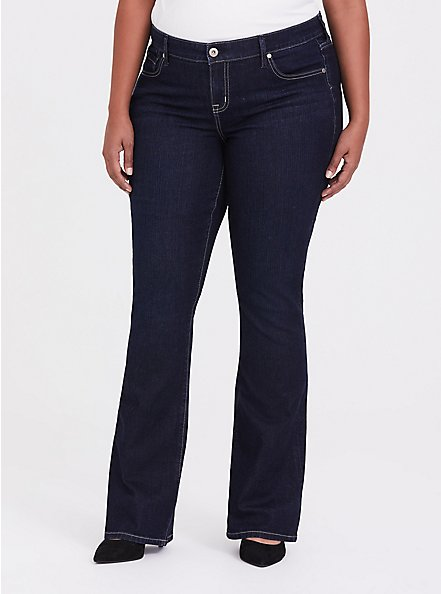 Slim Boot Jean - Vintage Stretch Dark Wash, MOONLIT, hi-res