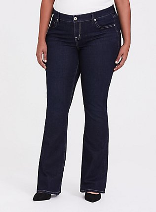 Slim Boot Jean - Vintage Stretch Dark Wash, MOONLIT, hi-res