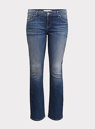 Slim Boot Jean - Vintage Stretch Dark Wash, , flat