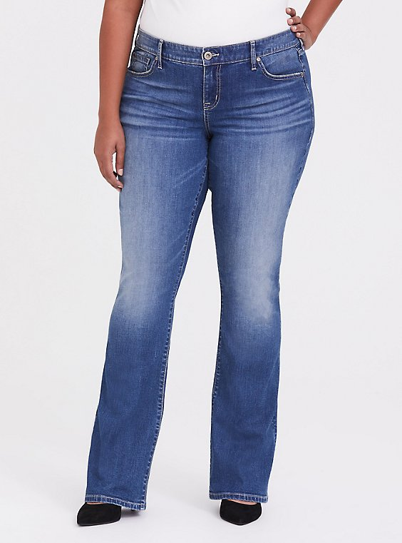Plus Size Slim Boot Jean - Vintage Stretch Dark Wash, , hi-res