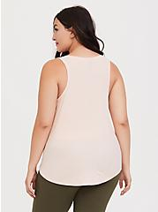 Plus Size Blush Pink Rib Henley Sleep Tank, PINK, alternate