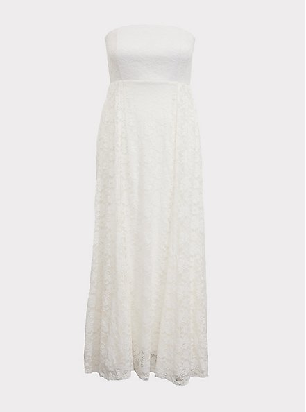 Special Occasions Ivory Lace Skirt Overlay Gown, CLOUD DANCER, hi-res