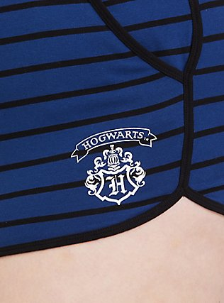 Harry Potter Triwizard Badge Blue Stripe Sleep Short, DEEP BLACK, alternate