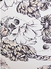 White Skull Floral 360° Back Smoothing™ Push-Up Plunge Bra, ROSE CHAIN WHITE, alternate