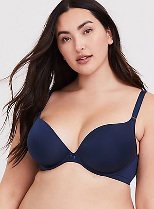 Navy 360° Back Smoothing™ Push-Up Plunge Bra, INDIGO GARDEN, hi-res