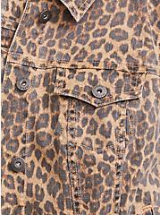 Leopard Denim Trucker Jacket, MIDI LEOPARD, alternate