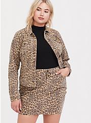 Leopard Denim Trucker Jacket, MIDI LEOPARD, hi-res